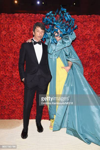 Pierpaolo Piccioli and Frances McDormand attends the Heavenly Bodies Fashion The Catholic Imagination Costume Institute Gala at The Metropolitan...