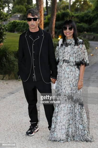 Pierpaolo Piccioli and Francesca Valiani attend the McKim Medal Gala 2018 at Villa Aurelia on June 6 2018 in Rome Italy
