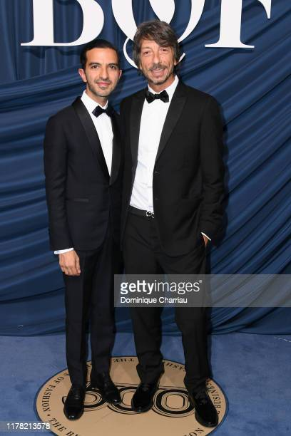 Pierpaolo Piccioli and Imran Amed attend The Business Of Fashion Celebrates The #BoF500 2019 at Hotel de Ville on September 30, 2019 in Paris, France.