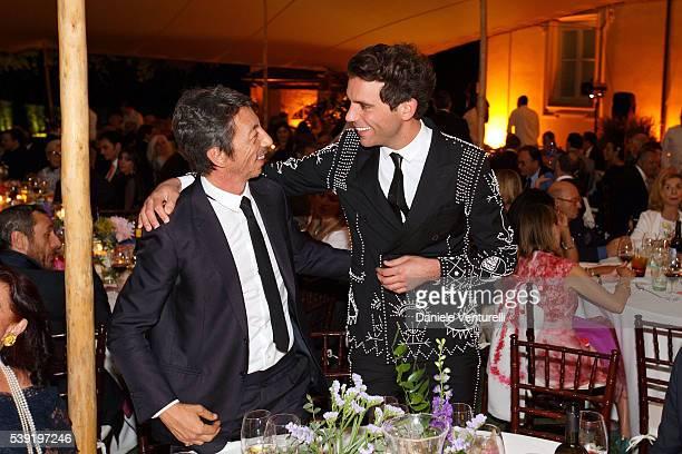 Pierpaolo Piccioli and Mika attend McKim Medal Gala In Rome at Villa Aurelia on June 9 2016 in Rome Italy