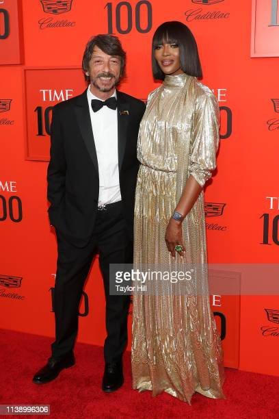 Pierpaolo Piccioli and Naomi Campbell attend the 2019 Time 100 Gala at Frederick P Rose Hall Jazz at Lincoln Center on April 23 2019 in New York City