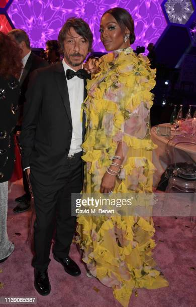 Pierpaolo Piccioli and Naomi Campbell attend the Fashion Trust Arabia Prize awards ceremony on March 28, 2019 in Doha, Qatar.