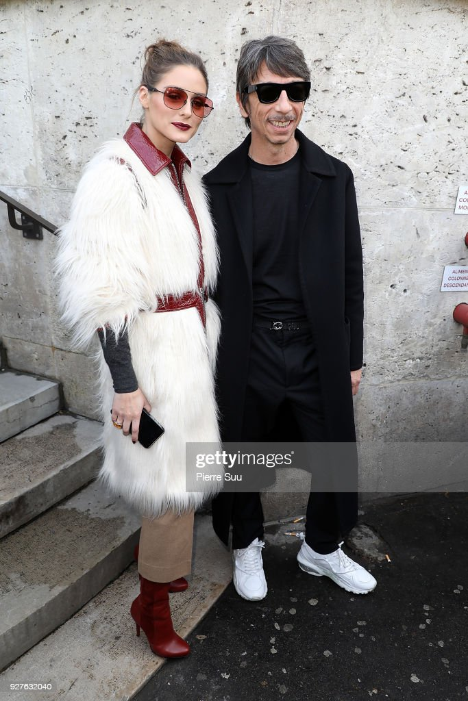 Pierpaolo Piccioli and Olivia Palermo attend the Giambattista Valli show as part of the Paris Fashion Week Womenswear Fall/Winter 2018/2019 on March 5, 2018 in Paris, France.