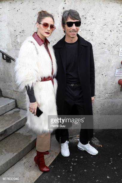 Pierpaolo Piccioli and Olivia Palermo attend the Giambattista Valli show as part of the Paris Fashion Week Womenswear Fall/Winter 2018/2019 on March...