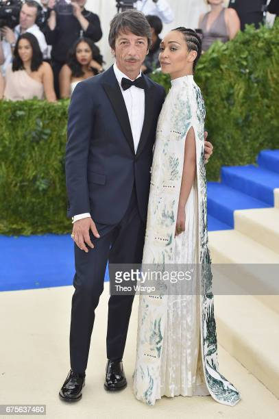 Pierpaolo Piccioli and Ruth Negga attend the 'Rei Kawakubo/Comme des Garcons Art Of The InBetween' Costume Institute Gala at Metropolitan Museum of...