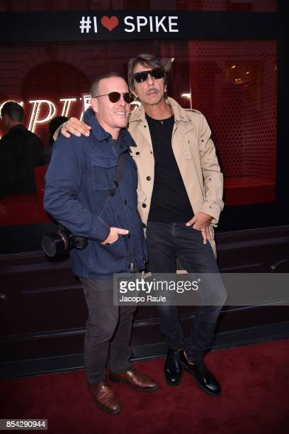 Pierpaolo Piccioli and Scott Schuman attend the Valentino #ILoveSpike Cocktail as part of the Paris Fashion Week Womenswear Spring/Summer 2018 on...