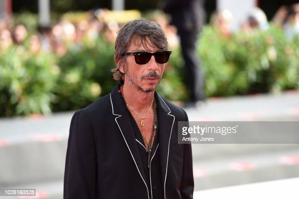 Pierpaolo Piccioli walks the red carpet ahead of the 'My Brilliant Friend ' screening during the 75th Venice Film Festival at Sala Grande on...