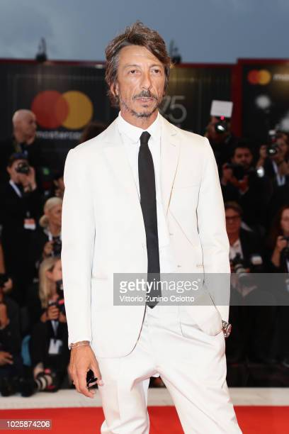 Pierpaolo Piccioli walks the red carpet ahead of the 'Suspiria' screening during the 75th Venice Film Festival at Sala Grande on September 1 2018 in...