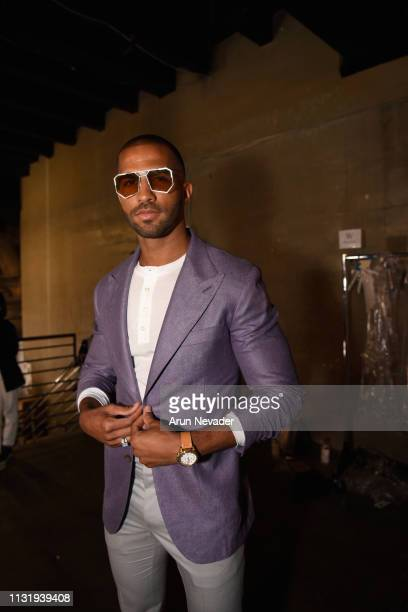 Pierre Abena at Los Angeles Fashion Week FW/19 Powered by Art Hearts Fashion at The Majestic Downtown on March 21 2019 in Los Angeles California