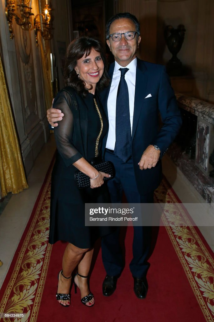 Pierre Accignac and his wife Anne attend the 'Vaincre Le Cancer' Gala - 30th Anniverary at Cercle de l'Union Interalliee on May 17, 2017 in Paris, France.