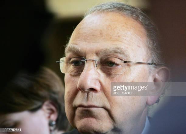 """Pierre Aidenbaum, maire socialiste du 3e arrondissement de Paris, partie civile dans le procès des """"faux électeurs"""" du IIIe arrondissement, arrive le..."""