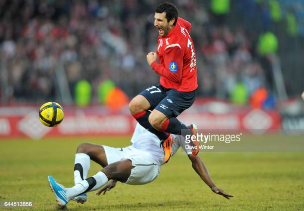 Pierre Alain FRAU / Carlos SANCHEZ - - Lille / Valenciennes - 27e journee Ligue1, Photo : Dave Winter / Icon Sport,