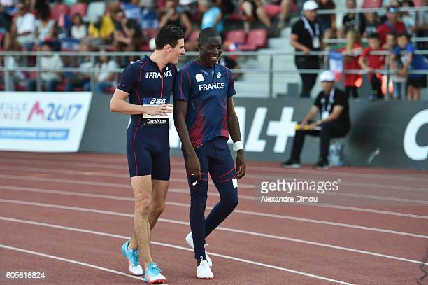 Pierre Ambroise Bosse of France and Mame Ibra Anne of France during the DecaNation 2016 at Stade Pierre Delort on September 13, 2016 in Marseille,...