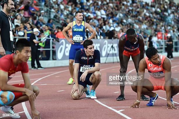 Pierre Ambroise Bosse of France competes in 400m during the DecaNation 2016 at Stade Pierre Delort on September 13, 2016 in Marseille, France.