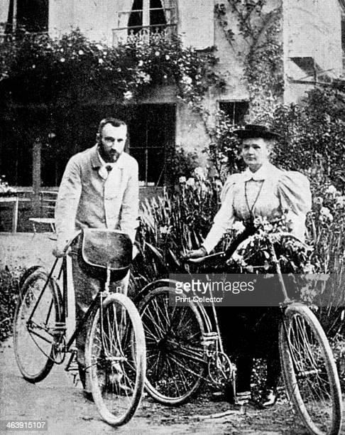 Pierre and Marie Curie French physicists preparing to go cycling Polishborn Marie Curie and her husband Pierre continued the work on radioactivity...