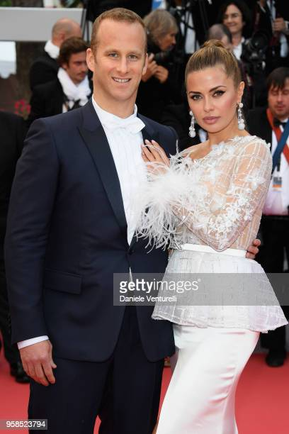"""Pierre Andurand and Victoria Bonya attend the screening of """"BlacKkKlansman"""" during the 71st annual Cannes Film Festival at Palais des Festivals on..."""