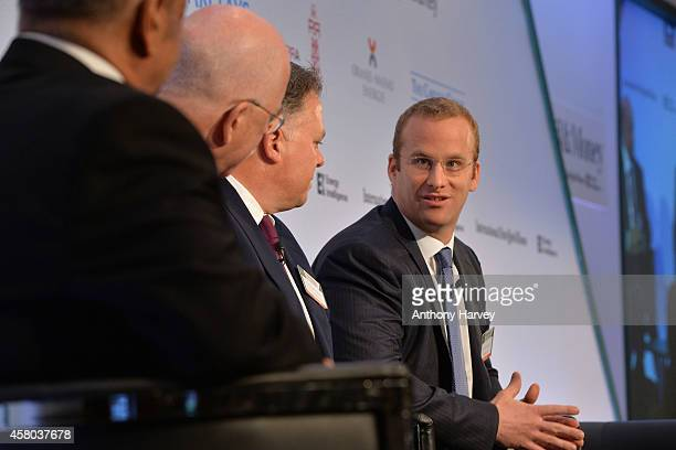 Pierre Andurand from Andurand Capital, appears on stage on Day 1 at the International New York Times/Energy Intelligence Oil & Money Conference at...