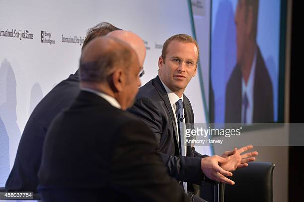 Pierre Andurand from Andurand Capital appears on stage on Day 1 at the International New York Times/Energy Intelligence Oil Money Conference at The...