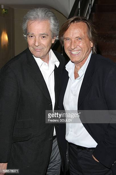 Pierre Arditi and Alexandre Arcady in Paris France on May 5 2008