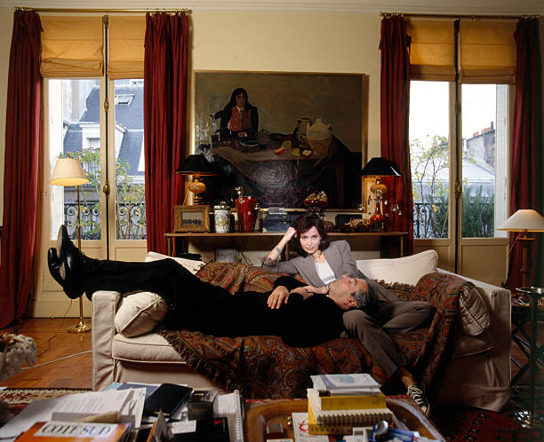 pierre arditi and evelyne bouix at home in paris pictures. Black Bedroom Furniture Sets. Home Design Ideas