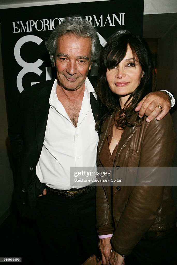 Pierre Arditi and Evelyne Bouix attend the Armani City Glam party.
