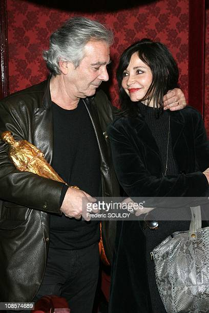 Pierre Arditi and Evelyne Bouix in Paris France on December 15 2008