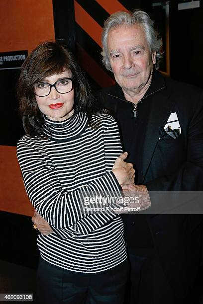 Pierre Arditi and his wife Evelyne Bouix attend Alex Lutz in his One man Show at L'Olympia In Paris at L'Olympia on January 23 2015 in Paris France