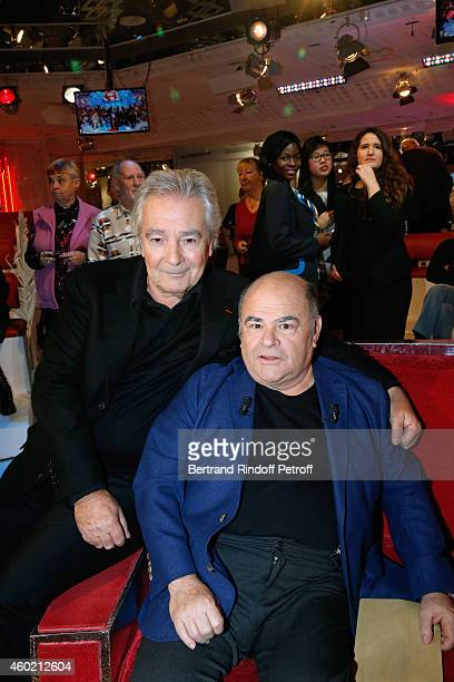 Pierre Arditi and Jean Benguigui attend the 'Vivement Dimanche' French TV Show at Pavillon Gabriel on December 9 2014 in Paris France
