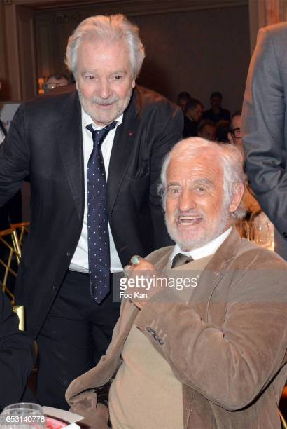 Pierre Arditi and Jean Paul Belmondo attend 'La Recherche en Physiologie' Charity Gala at Four Seasons Hotel George V on March 13 2017 in Paris France