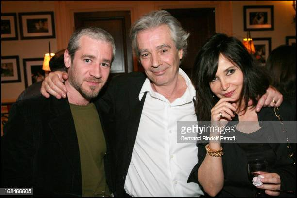 Pierre Arditi and son Frederic with Evelyne Bouix at The Theatre Production Tailleur Pour Dames At Theatre Edouard Vii In Paris Is Broadcast By The...