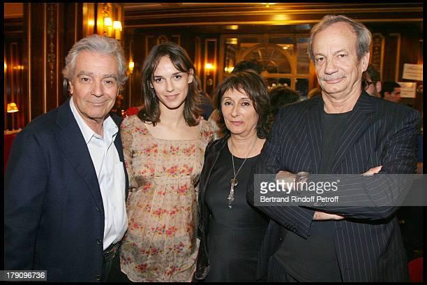 Pierre Arditi Emilie Chesnais and parents Patrick Chesnais and Josiane Stoleru at Clotilde Courau Star Of 'Faisons Un Reve' Celebrates Her 40th...