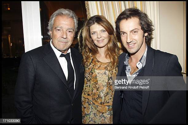 Pierre Arditi Gwendoline Hamon and Frederic Diefenthal at Dinner At Hotel Bristol For The Laureates Of The 5th Edition Of The Prize Les Trois Coups...