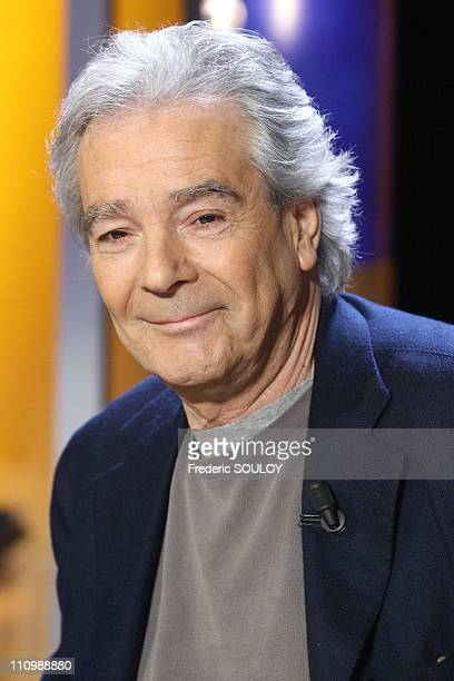 Pierre Arditi on tv show'Vol de nuit' in Paris France on February 01st 2007
