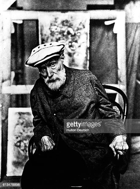 Pierre Auguste Renoir the French impressionist painter In his later years his hands were crippled with arthritis