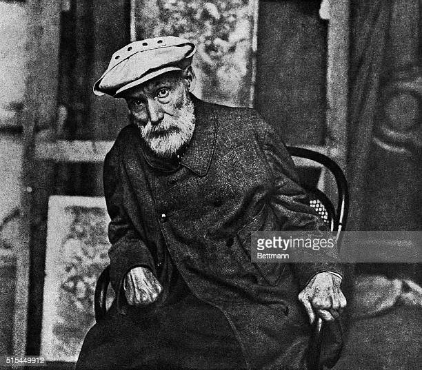 Pierre Auguste Renoir the French painter in his old age Undated photograph
