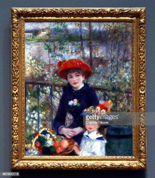 Pierre Auguste Renoir's Two Sisters hangs in Chicago's Art Institute on Wednesday Oct 18 2017 President Trump made a claim that he had the original...