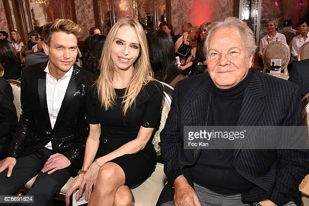 Pierre Barbe Tonya Kinzinger and Massimo Gargia attend Patrick Boffa 2017 Collection Fashion Show at Plaza Athenee on December 8 2016 in Paris France