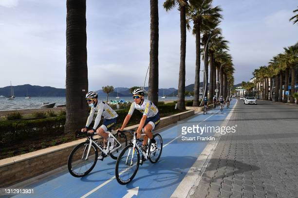 Pierre Barbier of France & Mathias Le Turnier of France and Team DELKO during the 56th Presidential Cycling Tour Of Turkey 2021, Stage 7 a 180km...