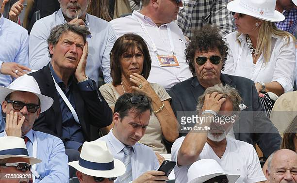 Pierre Barthes Robert Charlebois and his wife Laurence Charlebois attend day 10 of the French Open 2015 at Roland Garros stadium on June 2 2015 in...