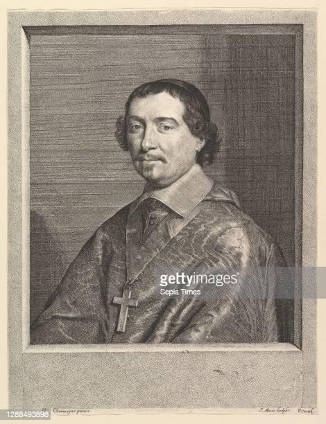 Pierre Bartier, eveque de Montauban, Etching, image: 12 1/8 x 9 3/16 in. , Prints, Jean Morin , After Philippe de Champaigne .