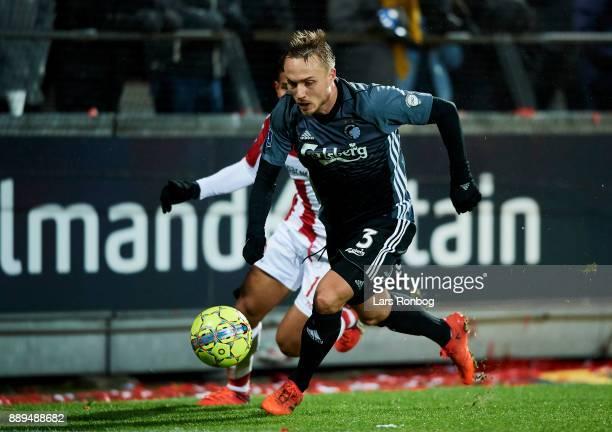 Pierre Bengtsson of FC Copenhagen in action during the Danish Alka Superliga match between AaB Aalborg and FC Copenhagen at Aalborg Portland Park on...