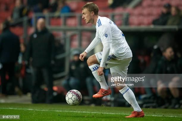 Pierre Bengtsson of FC Copenhagen in action during the Danish Alka Superliga match between FC Copenhagen and Randers FC at Telia Parken Stadium on...