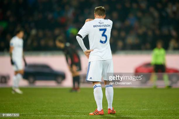 Pierre Bengtsson of FC Copenhagen looks dejected after the Danish Alka Superliga match between FC Midtjylland and FC Copenhagen at MCH Arena on...