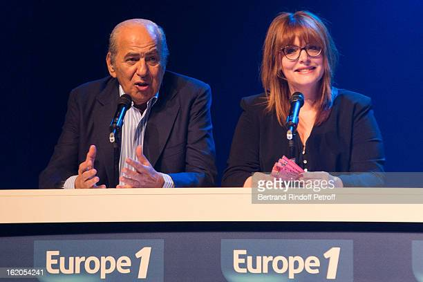 Pierre Benichou and Caroline Diament perform during the 3rd edition of the 'Europe 1 fait Bobino' show at Bobino on February 18 2013 in Paris France