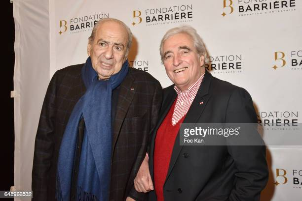 Pierre Benichou and Jean Loup Dabadie attend Monsieur et Madame Adelman Premiere at Elysee Biarritz on March 6 in Paris France