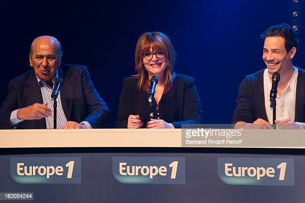 Pierre Benichou Caroline Diament and Steevy Boulay perform during the 3rd edition of the 'Europe 1 fait Bobino' show at Bobino on February 18 2013 in...