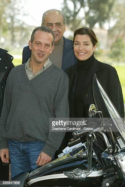 Pierre Benichou Philippe Dana and Daphne Roulier attend the 2004 Cognac Film Festival