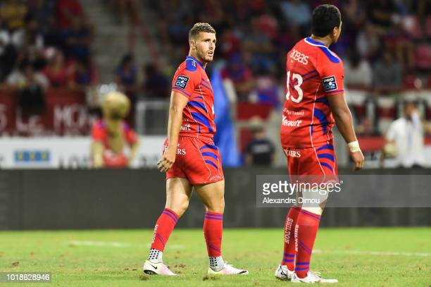Pierre Berard new player of Beziers during the French Pro D2 match between Beziers and Soyaux Angouleme on August 17 2018 in Beziers France