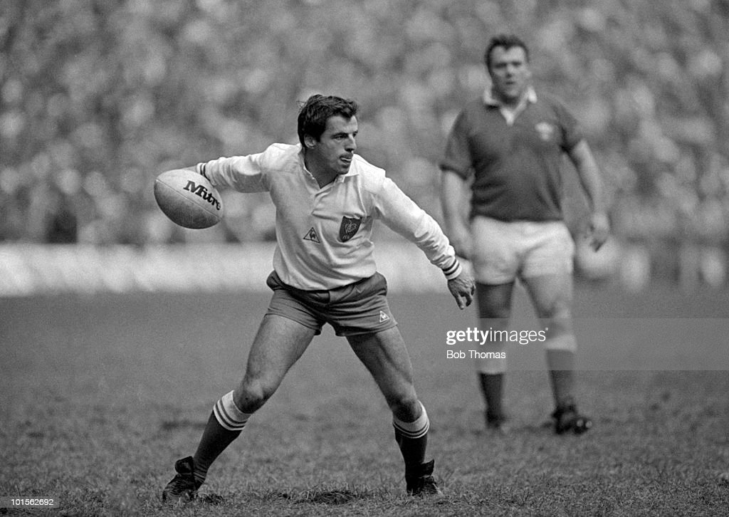Pierre Berbizier of France in action against Wales during the Rugby Union International match held at Cardiff Arms Park on 1st March 1986. France beat Wales 23-15. (Bob Thomas/Getty Images).
