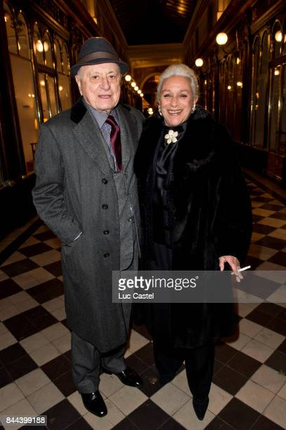 Pierre Berge and Baroness Helene de Ludinghausen attned the 'Insularite' Exhibition Opening at Galerie du Passage on February 04 2015 in Paris France